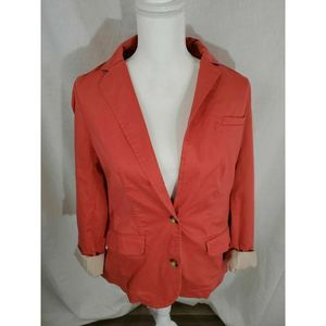 L.L. Bean Rolled Sleeve Blazer Jacket Size Small